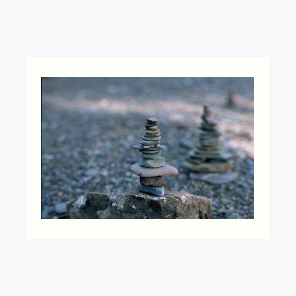 Rock balance Art Print