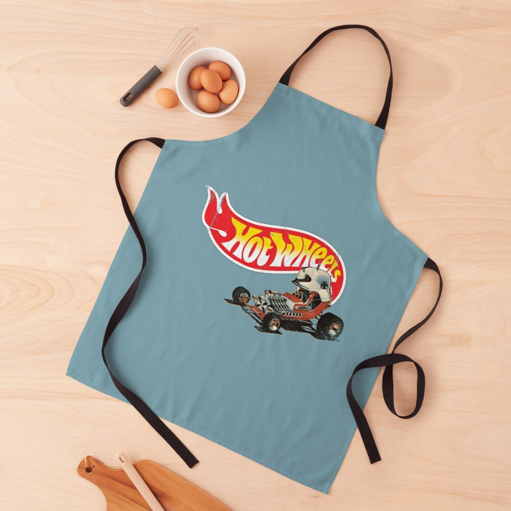 """Vintage Style Hot Wheels """"Red Baron"""" Apron"""