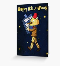 Halloween Doctor Who Card Greeting Card