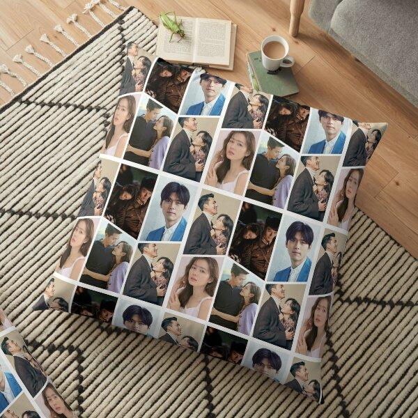 Hyun Bin + Son Ye Jin Couple Collage Floor Pillow