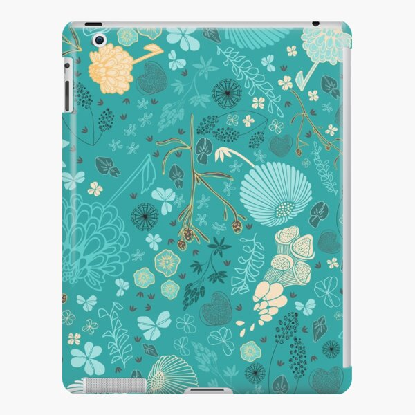 Field of Flowers in Blue, White and Yellow iPad Snap Case