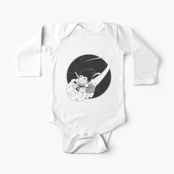 KID GOKU ON NIMBUS MANGA Long Sleeve Baby One-Piece
