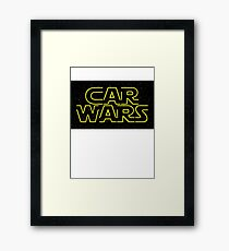 Car Wars - Start Wars Framed Print