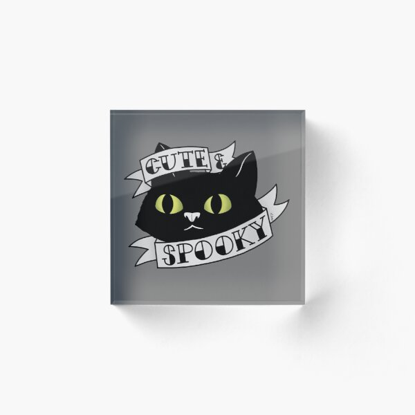 Cute and Spooky Acrylic Block