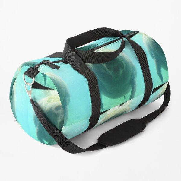 Friendly manatee Duffle Bag
