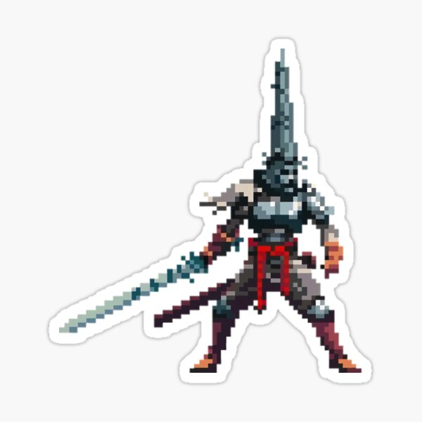 The Penitent One Pixel Art Style Sticker