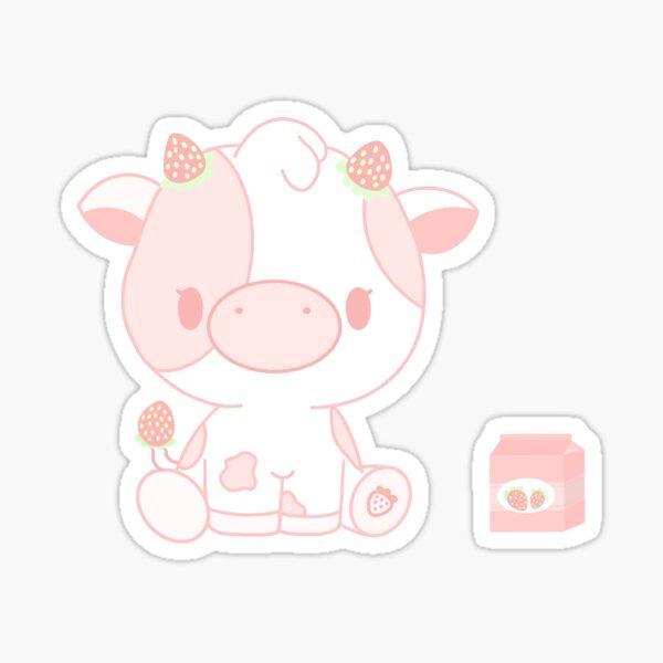 strawberry cow Sticker