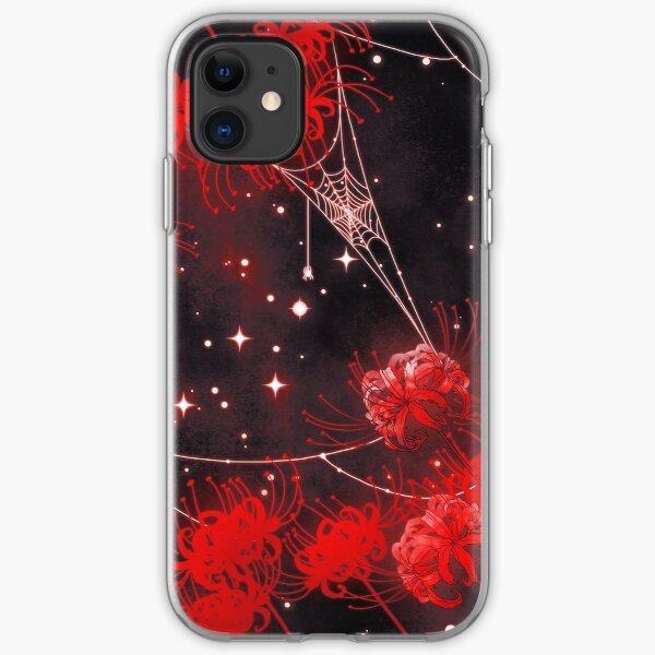 Galaxy Red Spider Lilies and Webs iPhone Soft Case
