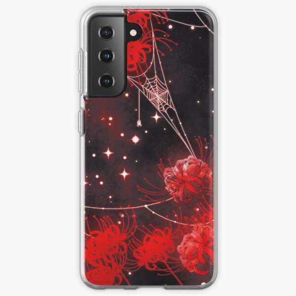 Galaxy Red Spider Lilies and Webs Samsung Galaxy Soft Case