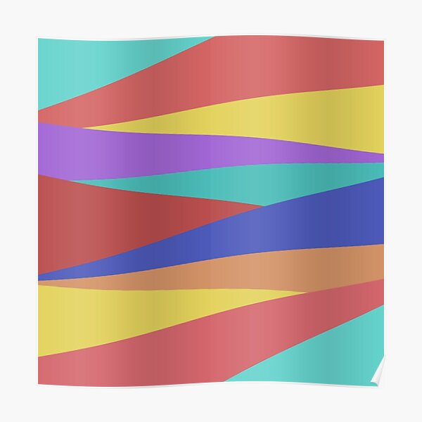 Fashion Color Block Poster