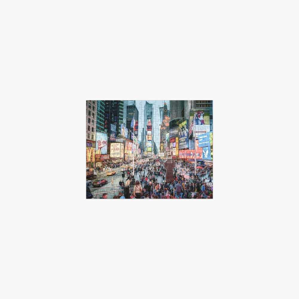 Times Square Tourists (color marker) Jigsaw Puzzle
