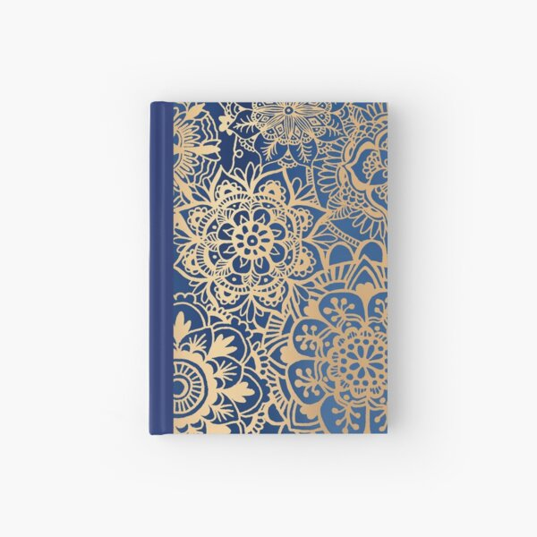 Blue and Gold Mandala Pattern Hardcover Journal