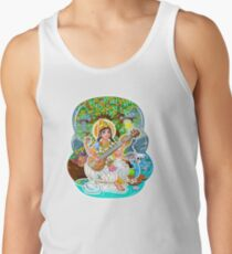 Saraswati - Hindu Goddess - Bunch of Bhagwans Tank Top