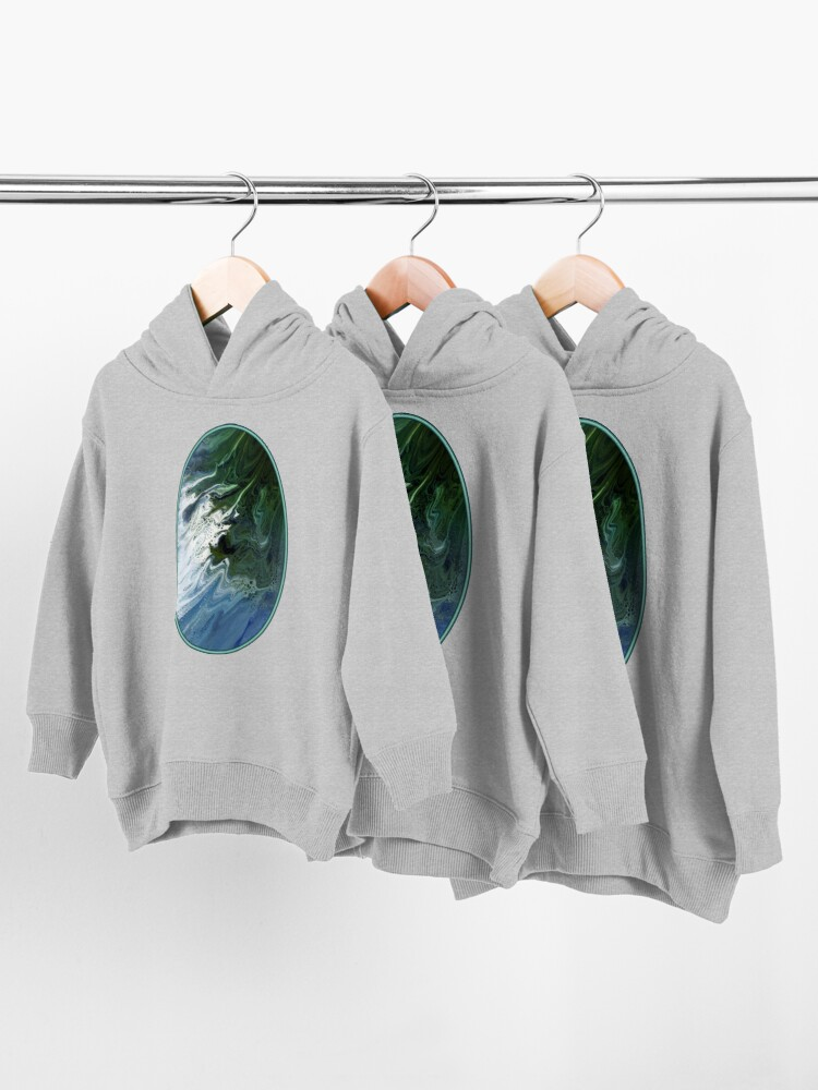 Alternate view of Waves On The Shore Toddler Pullover Hoodie