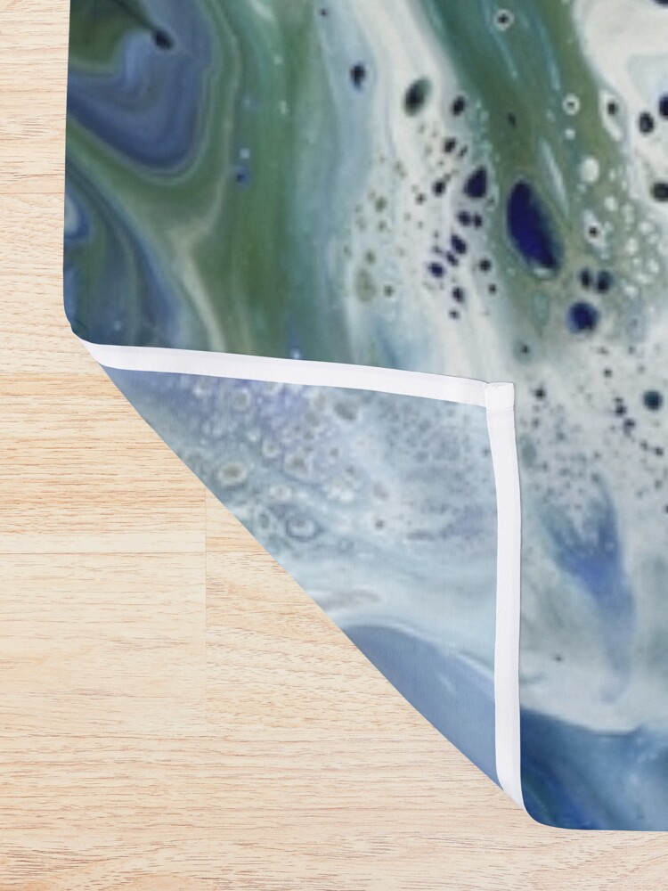 Alternate view of Waves On The Shore Shower Curtain
