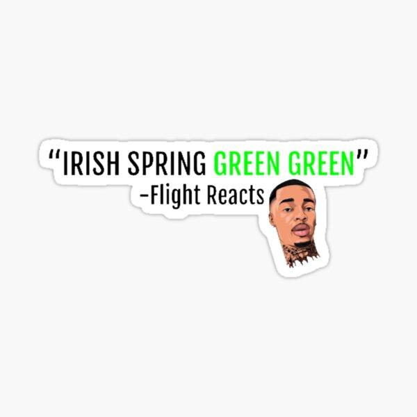 Irish Spring Green Green l FLIGHT REACTS Sticker