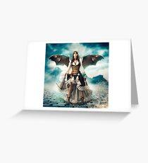 The Steampunk Warrior  Greeting Card