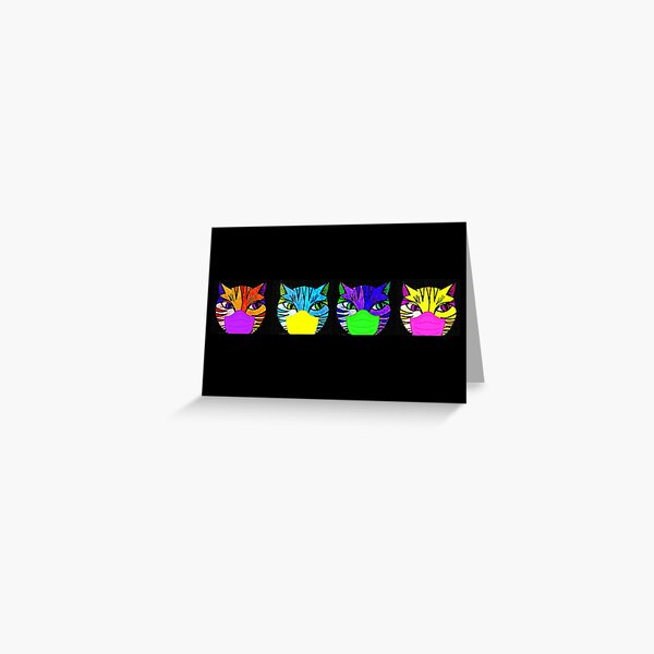 Cats in Masks Greeting Card
