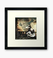 Steampunk Warrior and Little Miska Framed Print
