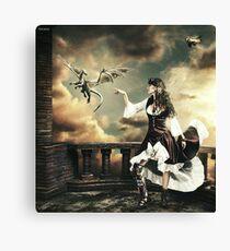 Steampunk Warrior and Little Miska Canvas Print