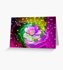 Lotus in the Rain Greeting Card