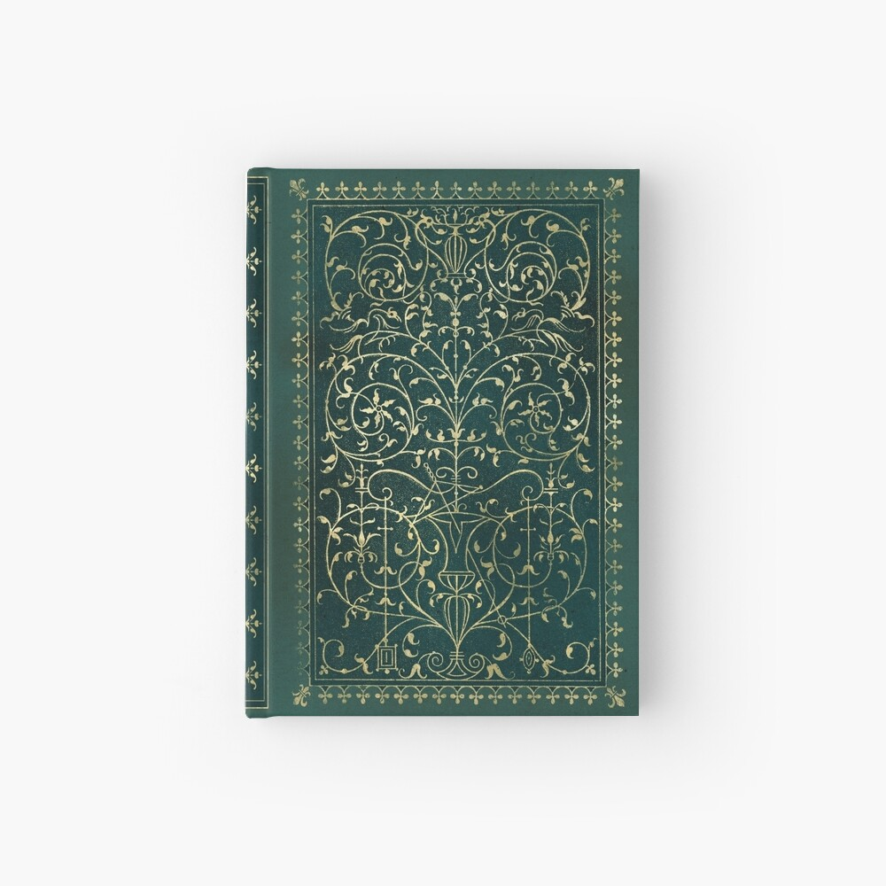 Old magic ornament Hardcover Journal