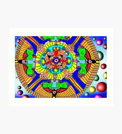 Mind map as a Mandala Art Print