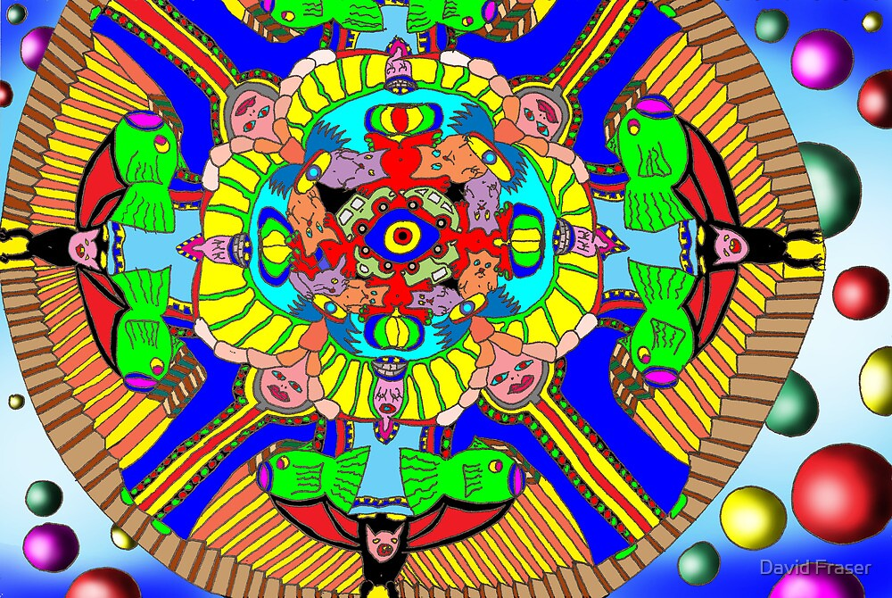 Mind map as a Mandala by David Fraser