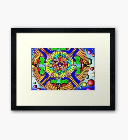 Mind map as a Mandala Framed Print