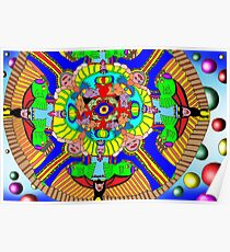 Mind map as a Mandala Poster