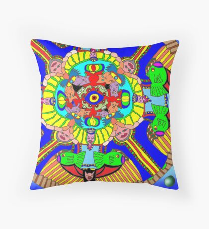 Mind map as a Mandala Throw Pillow