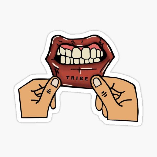 TRIBE Lip Tattoo Drawing Sticker