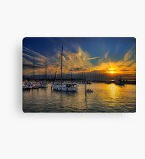 Yarmouth Sundown Canvas Print
