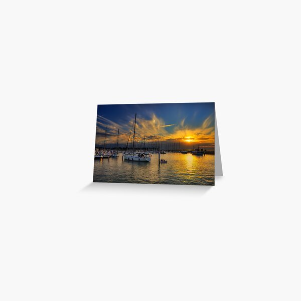 Yarmouth Sundown Greeting Card