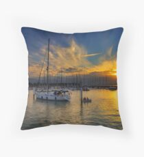 Yarmouth Sundown Throw Pillow