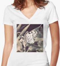 If Nothing Ever Changed, There'd Be No Butterflies Women's Fitted V-Neck T-Shirt