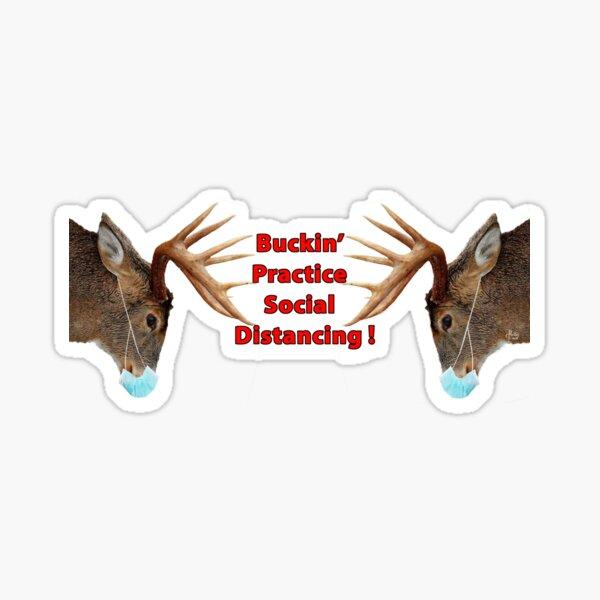Buckin' Practice Social Distancing Sticker
