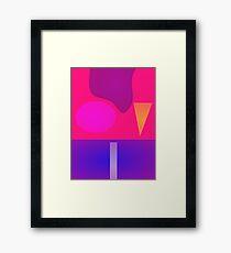 Minimalism Continent Framed Print