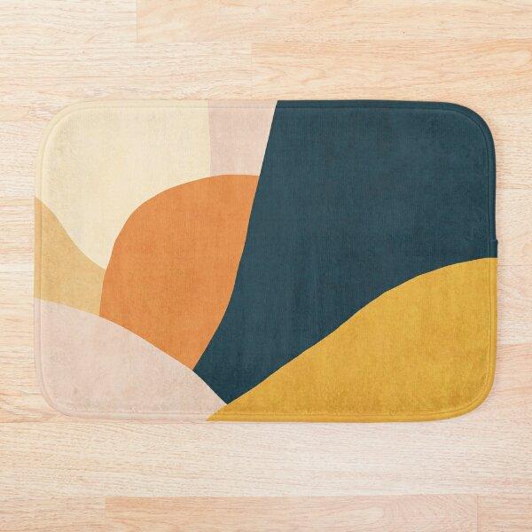 Colorful mid century sunset  Bath Mat