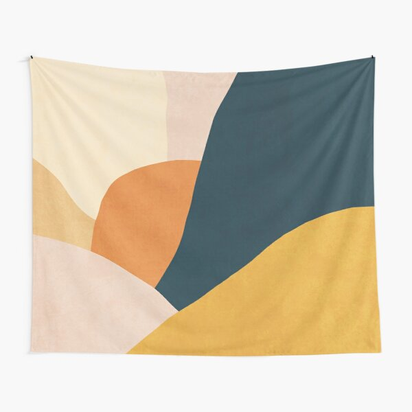 Colorful mid century sunset  Tapestry