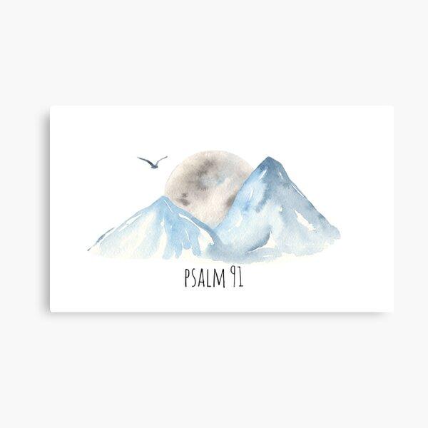 Psalm 91 Christian Bible Verse Bird Metal Print