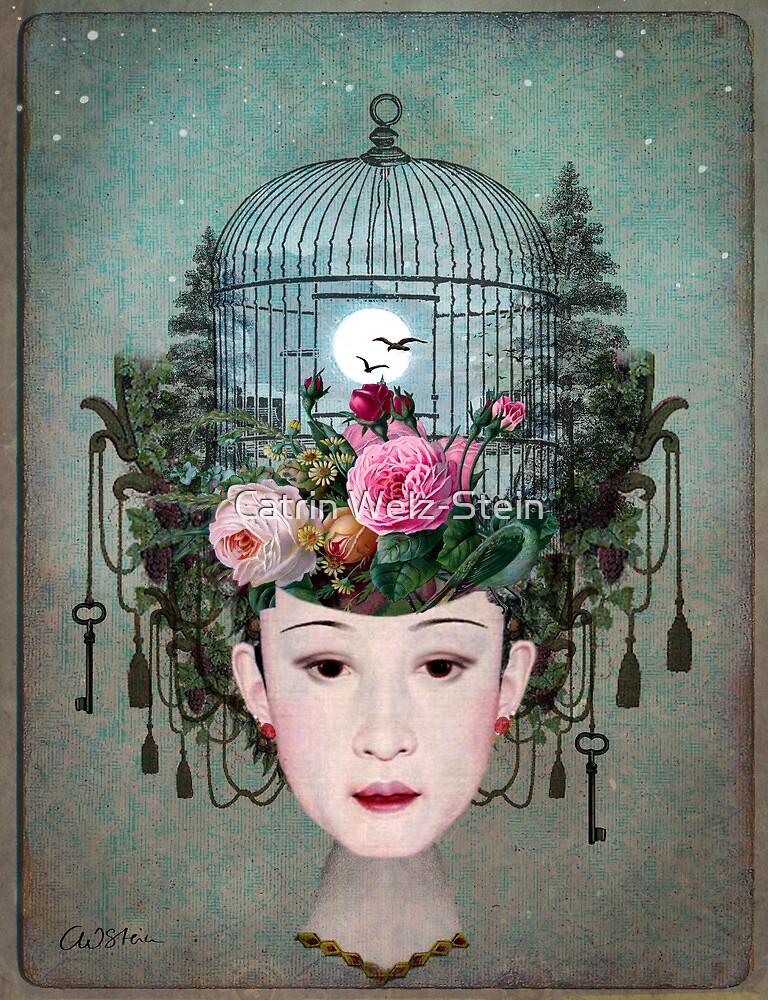 Quot Moonlight Garden Quot By Catrin Welz Stein Redbubble