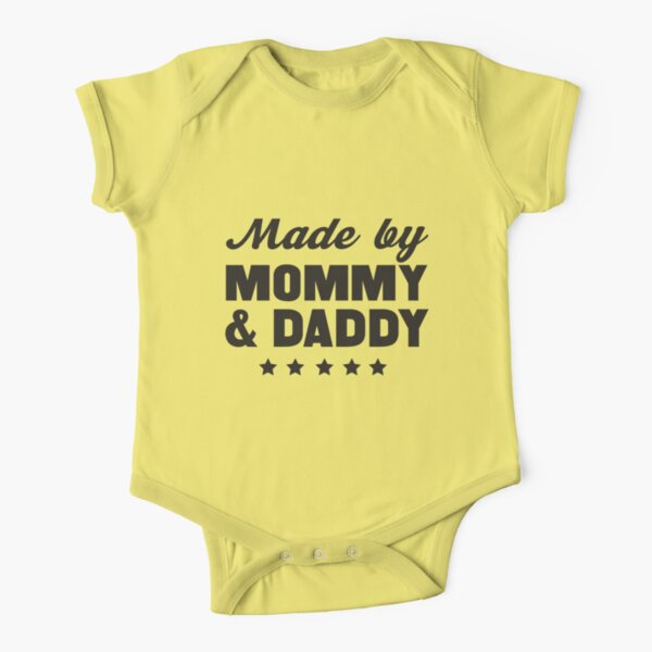 Monday Strikes Daddy Diaper Baby Jersey Short Sleeve One Piece