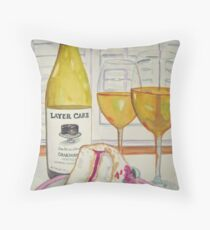 Layer cake wine and cake Throw Pillow