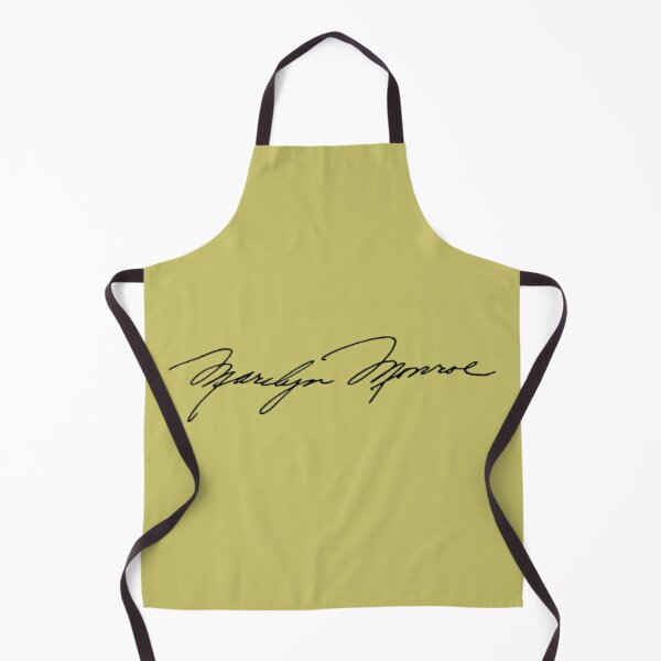 Authenticated Signature of Marilyn Monroe |  Marilyn Monroe's Autograph Apron