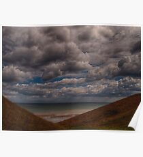 Clouds over the Beach Poster