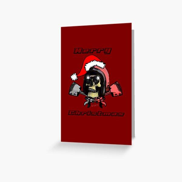 W'nR'n Crossed Pistons Christmas Card Greeting Card