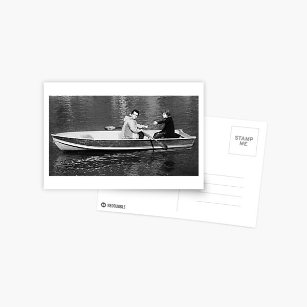 Row Boat in Central Park Postcard