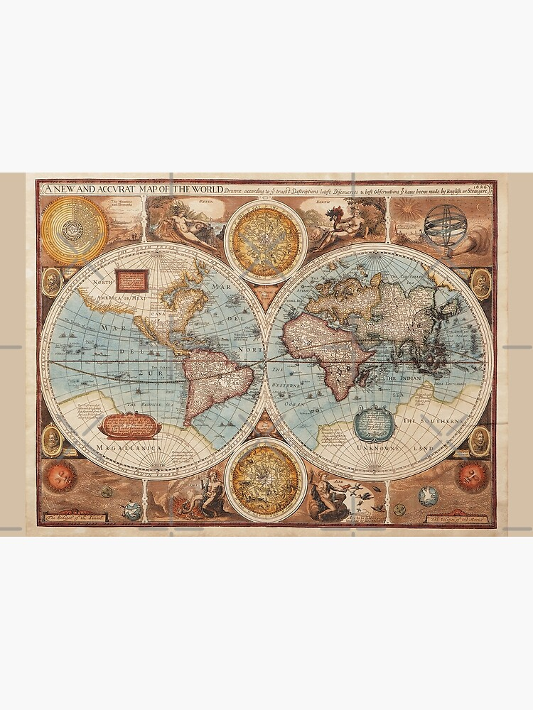 Vintage World Map  by Beltschazar