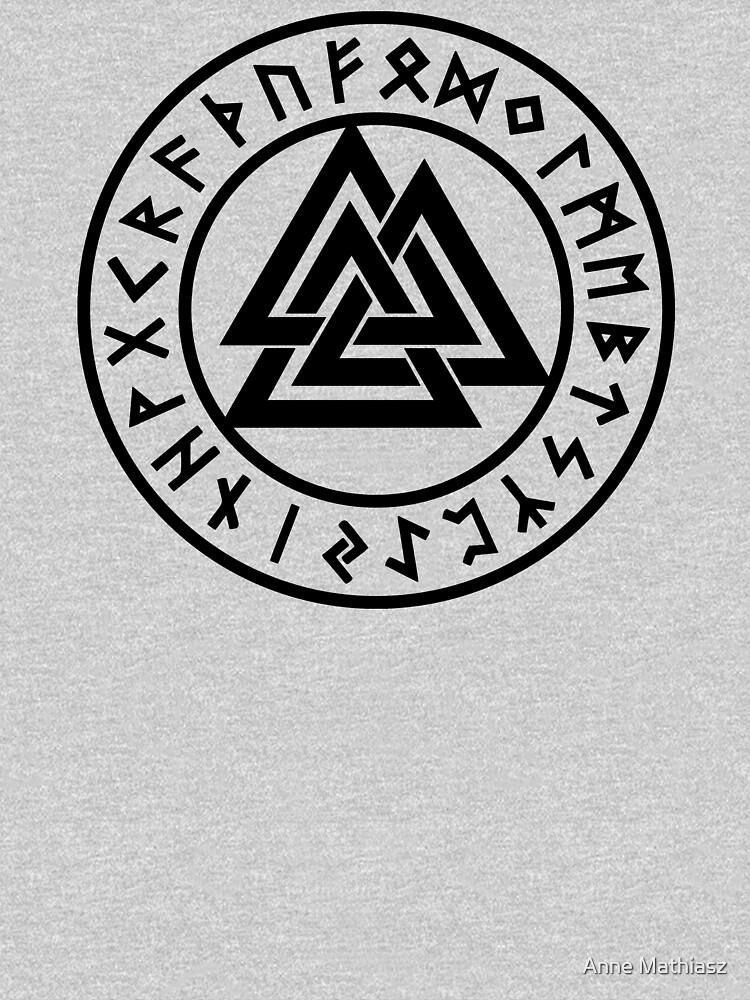 Valknut, Odin, Wotans Knot, Futhark Runes, Hrungnir heart by nitty-gritty
